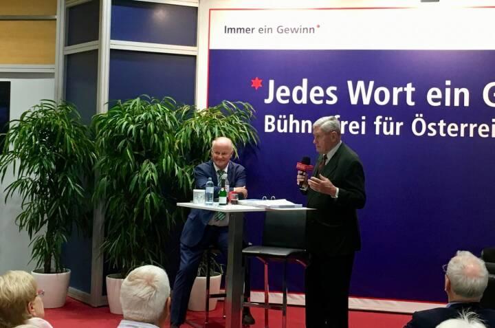 Hannes Androsch auf der Star der Stunde-Bühne