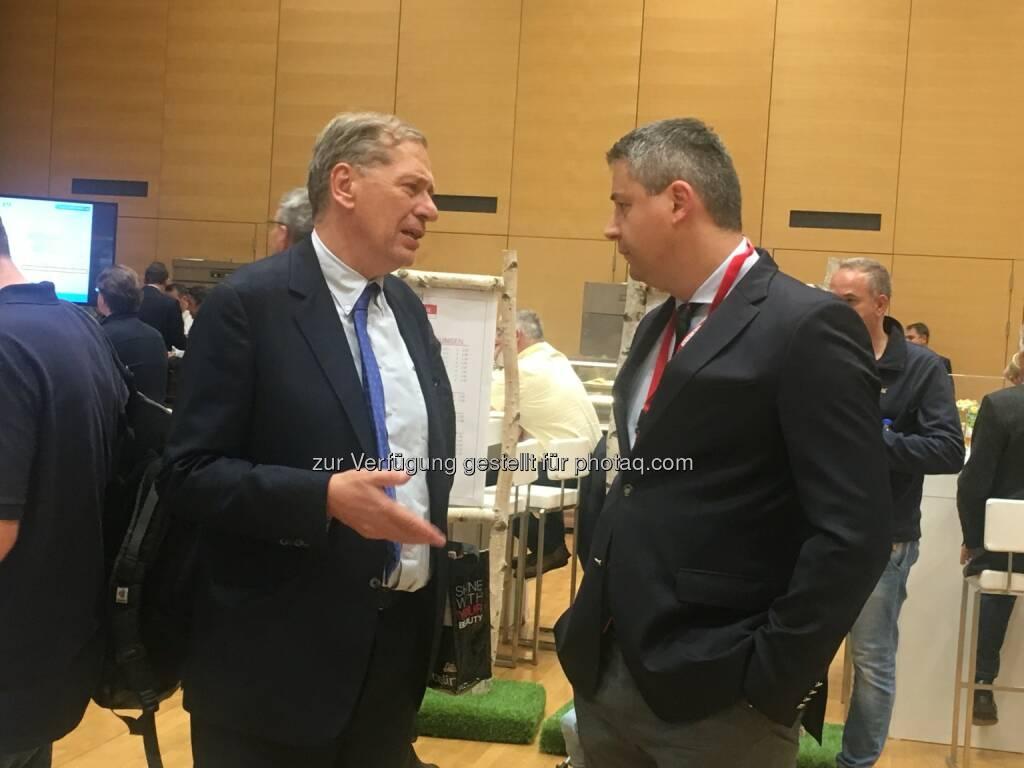 Wilhelm Rasinger, Oliver Schumy, CEO Immofinanz AG (19.10.2017)