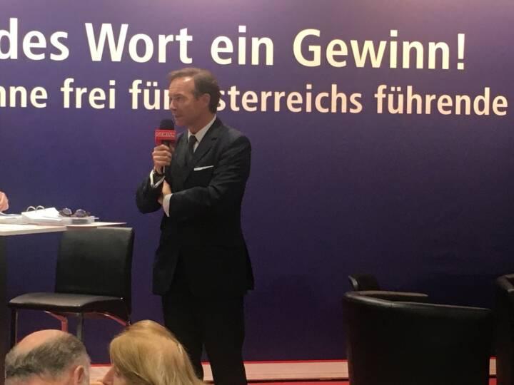 Star der Stunde: UBM-CEO Thomas Winkler