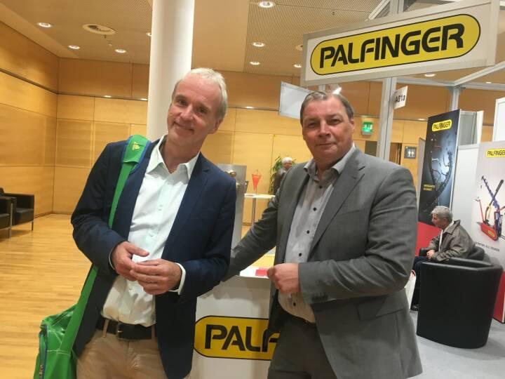 Christian Drastil, Hannes Roither (Palfinger)