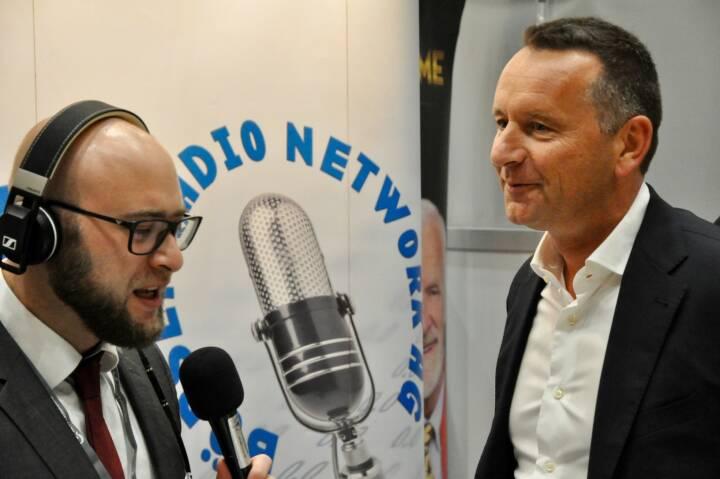 Sebastian Leben (boersenradio.at), Herbert Ortner (CEO Palfinger)