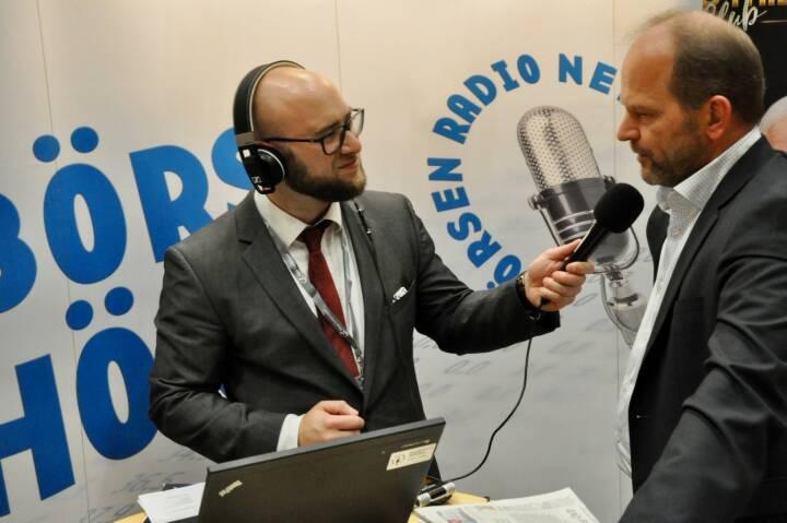 Sebastian Leben (boersenradio.at), Andreas Gerstenmayer (CEO AT&S)