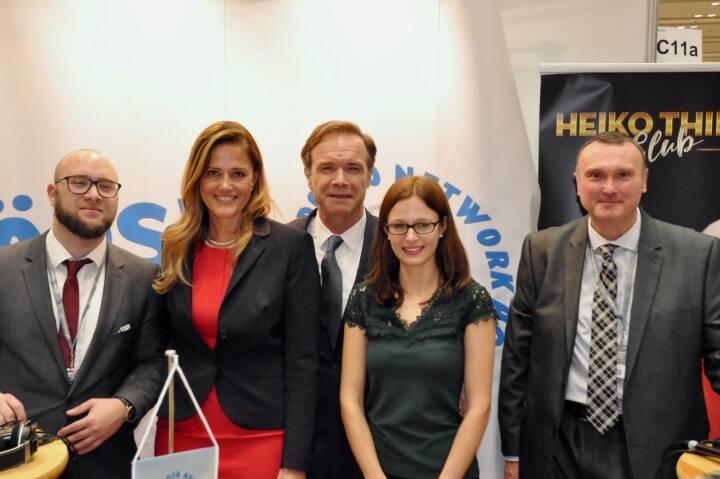 Sebastian Leben (boersenradio.at), Milena Ioveva (UBM), Thomas Winkler (CEO UBM), Peter Heinrich (boersenradio.at)