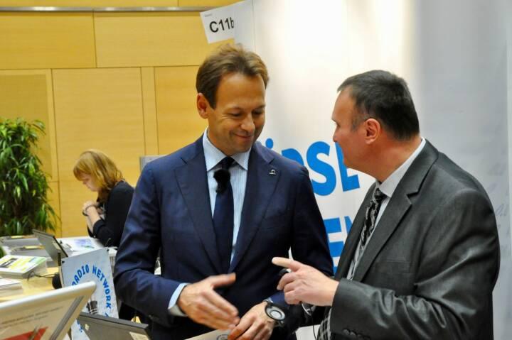 Andreas Brandstetter (CEO Uniqa), Peter Heinrich (boersenradio.at)