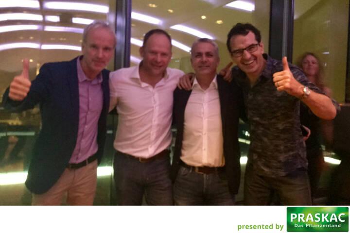 Matura-Kollegen: Christian Drastil, Alex Knechtsberger, Peter Bosek, Michael Rami