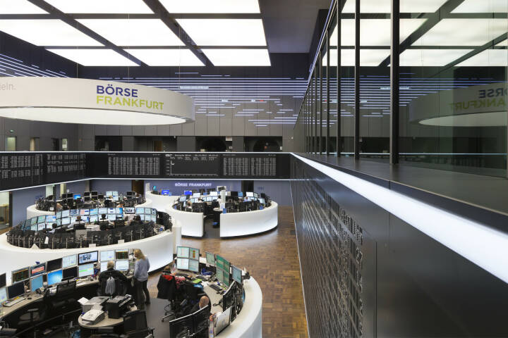 Deutsche Börse, Frankfurter Börse, Handelssaal, Parkett, DAX, Händler, Bild: Deutsche Börse