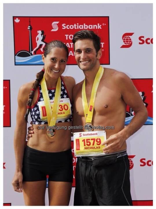 Finisher-Foto Toronto Marathon
