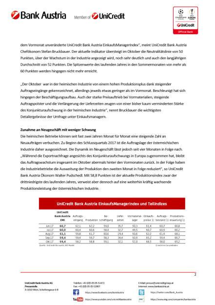 Österreichs Industrie weiter in Topform, Seite 2/4, komplettes Dokument unter http://boerse-social.com/static/uploads/file_2381_osterreichs_industrie_weiter_in_topform.pdf (31.10.2017)