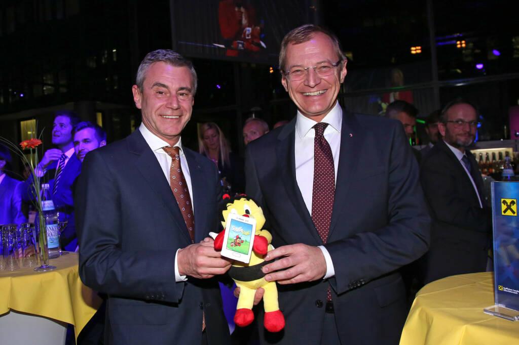 Generaldirektor Heinrich Schaller, Landeshauptmann Thomas Stelzer, Fotocredit: RLB OÖ/Strobl (01.11.2017)