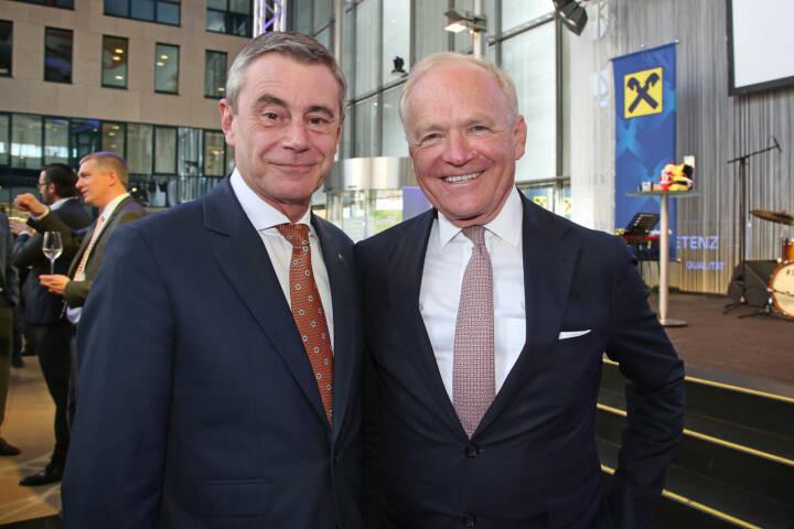 Generaldirektor Heinrich Schaller, Vorstandsvorsitzender AMAG Austria Metall AG Helmut Wieser, Fotocredit: RLB OÖ/Strobl