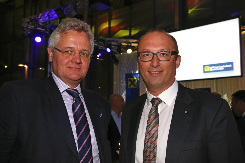 Teufelberger-Chef Florian Teufelberger, RLB OÖ-Vorstand Reinhard Schwendtbauer, Fotocredit: RLB OÖ/Strobl (01.11.2017)