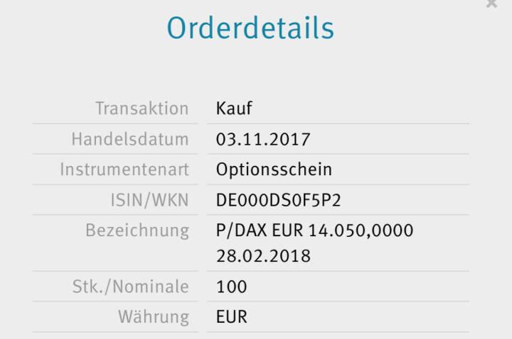 Kauf x-Markets DAX Put 14.050 für #100100hello