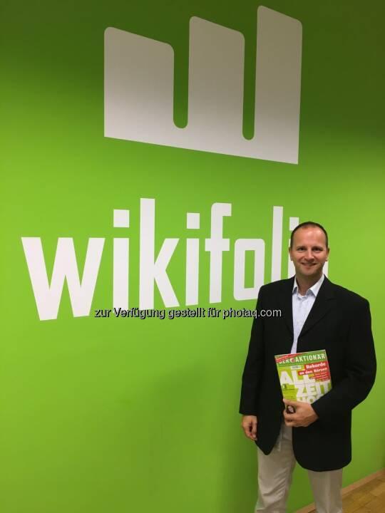 SE im wikifolio Headquarter in Wien...