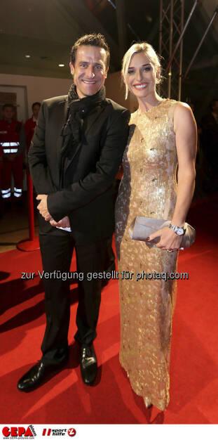 Alexander Antonitsch, Barbara Schett, © GEPA pictures/ Sporthilfe (15.12.2012)