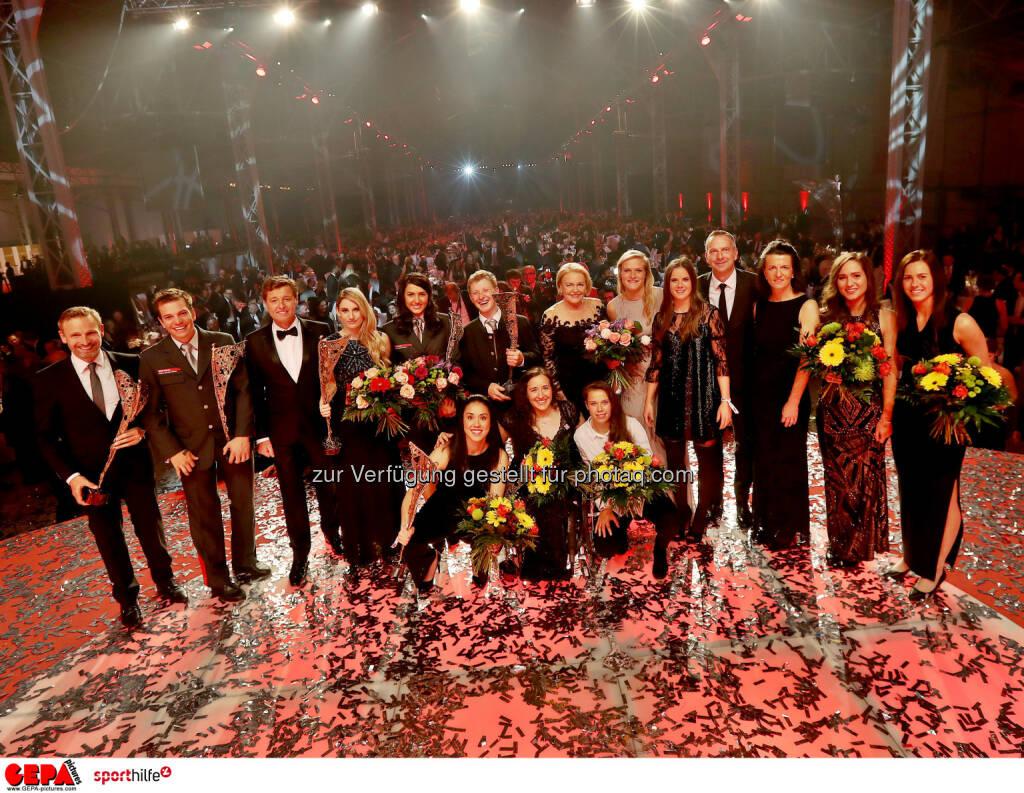 Lotterien Sporthilfe-Gala, Siegerfoto (Photo: GEPA pictures/ Hans Oberlaender) (04.11.2017)