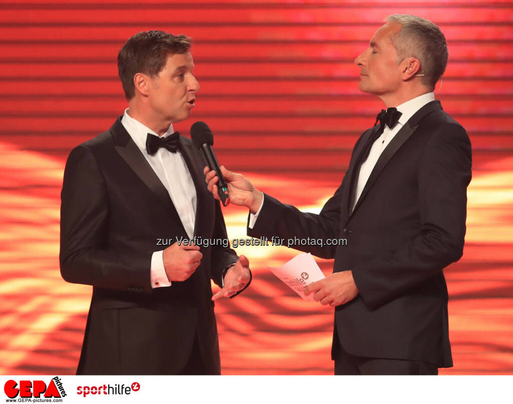 Harald Bauer (Sporthilfe) und Rainer Pariasek (ORF) - Lotterien Sporthilfe-Gala (Photo: GEPA pictures/ Mario Buehner) (04.11.2017)