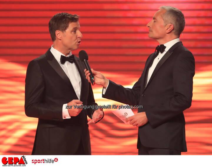 Harald Bauer (Sporthilfe) und Rainer Pariasek (ORF) - Lotterien Sporthilfe-Gala (Photo: GEPA pictures/ Mario Buehner)