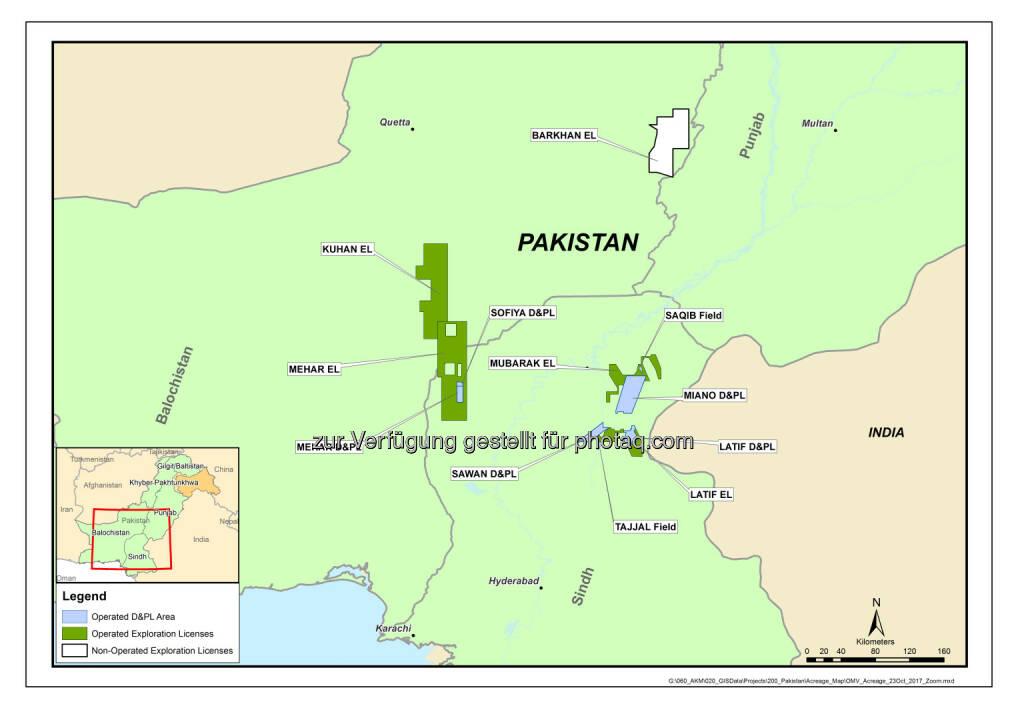OMV Aktiengesellschaft: OMV startet Produktion im Sofiya Gas- und Kondensatfeld in Pakistan (Fotocredit: OMV), © Aussender (06.11.2017)