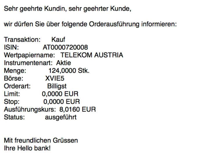 Kauf Telekom Austria für #100100hello