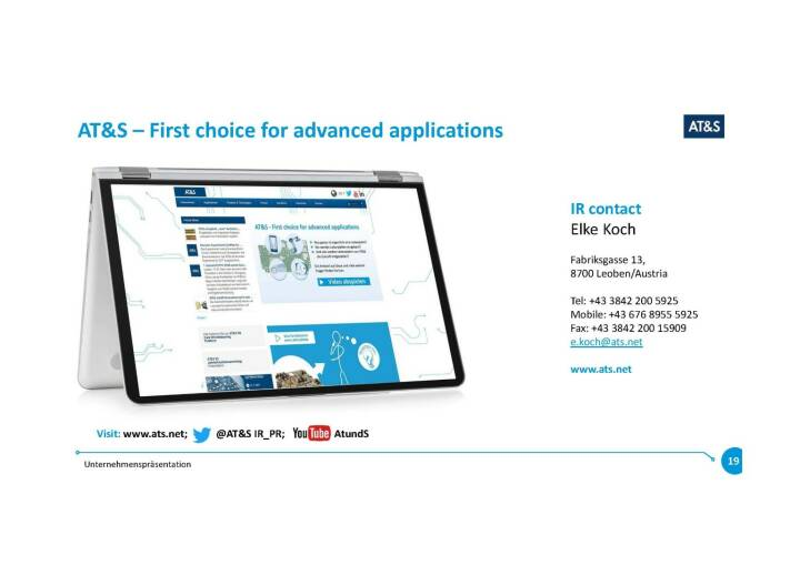 Präsentation AT&S - First choice for advanced applications