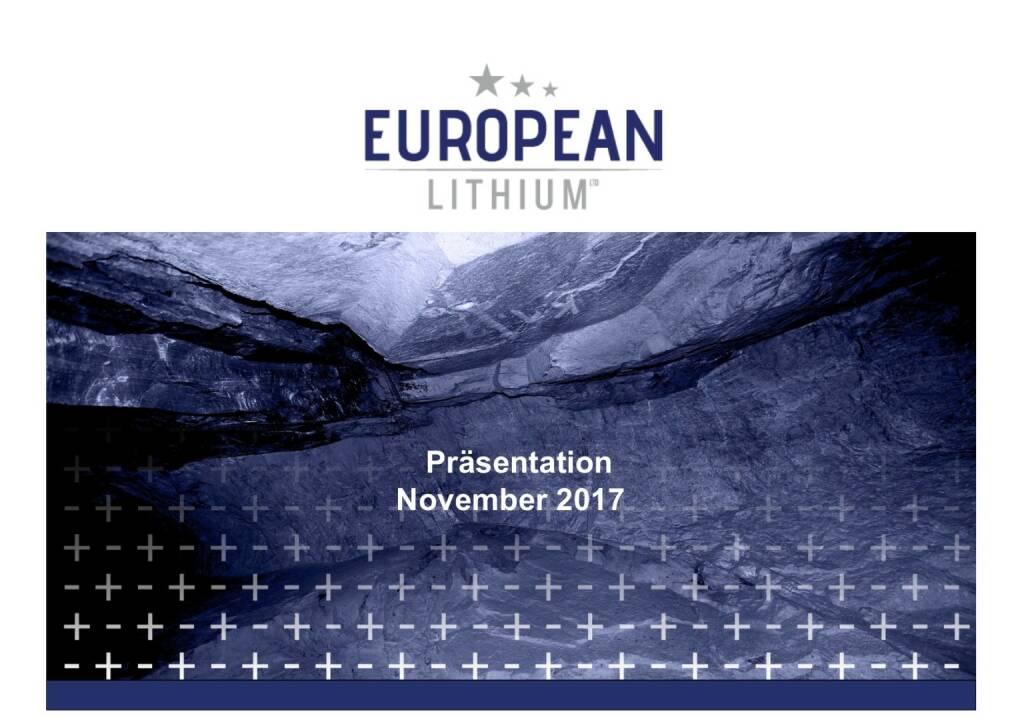 Präsentation European Lithium (07.11.2017)