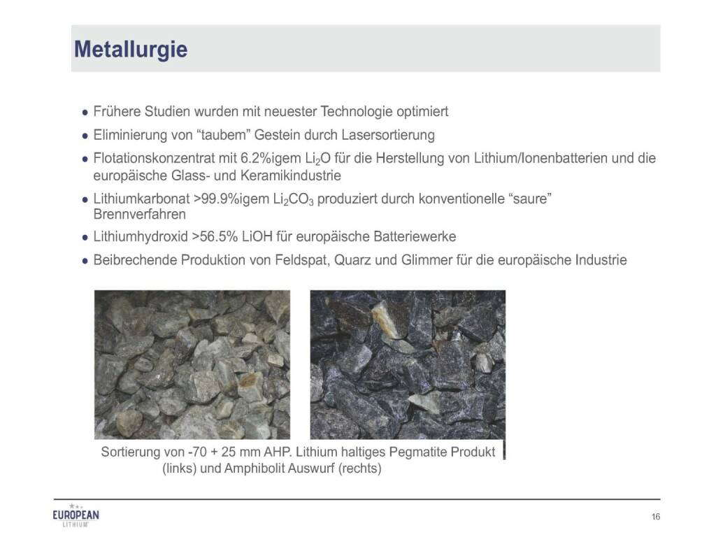 Präsentation European Lithium - Metallurgie (07.11.2017)