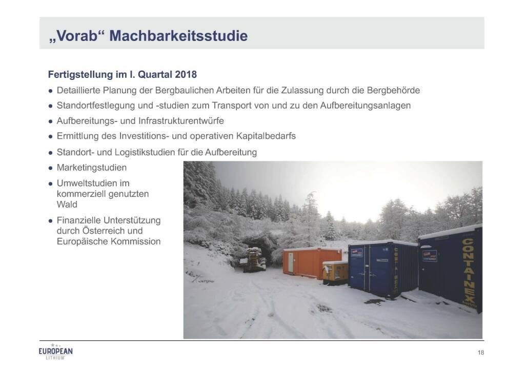 Präsentation European Lithium - Machbarkeitsstudie (07.11.2017)