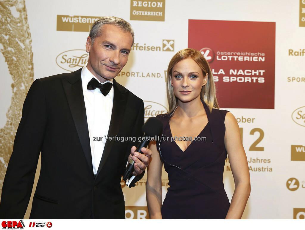 Rainer Pariasek, Mirjam Weichselbraun, © GEPA pictures/ Sporthilfe (15.12.2012)