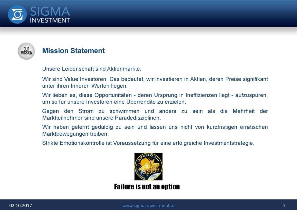 Präsentation Sigma Alfa European Opportunities Fonds - Mission Statement (07.11.2017)