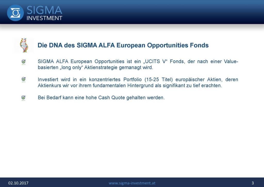 Präsentation Sigma Alfa European Opportunities Fonds - DNA (07.11.2017)