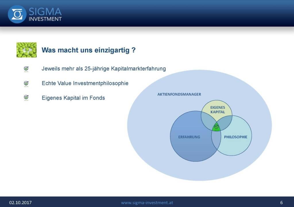 Präsentation Sigma Alfa European Opportunities Fonds - Einzigartig (07.11.2017)