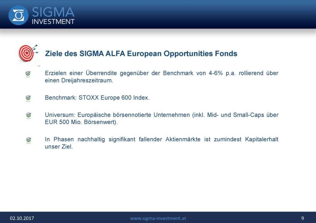Präsentation Sigma Alfa European Opportunities Fonds - Ziel (07.11.2017)