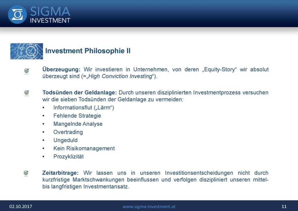 Präsentation Sigma Alfa European Opportunities Fonds - Philosophie (07.11.2017)