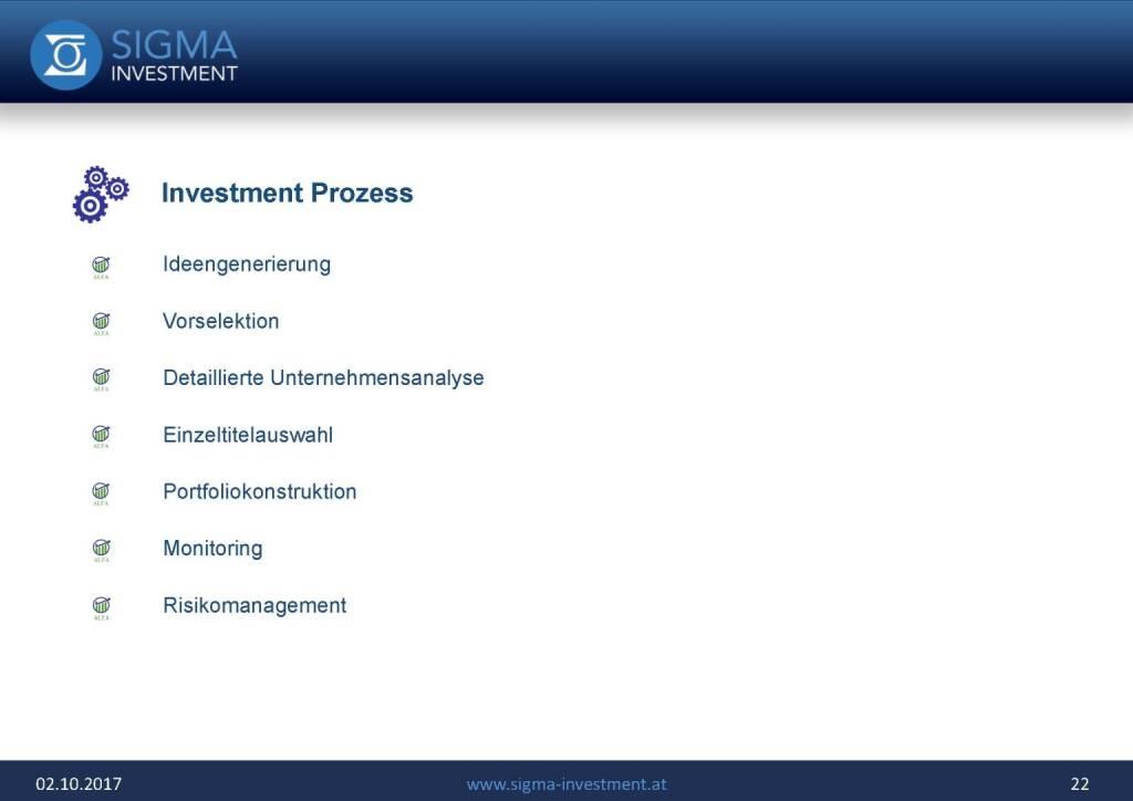 Präsentation Sigma Alfa European Opportunities Fonds - Investment Prozess (07.11.2017)