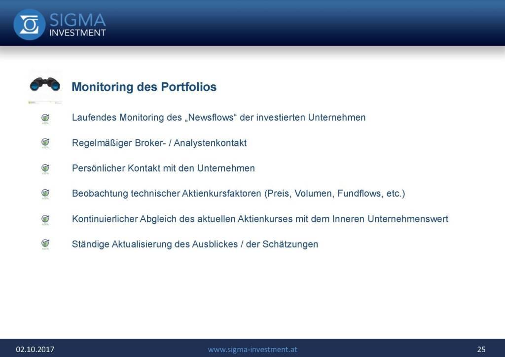 Präsentation Sigma Alfa European Opportunities Fonds - Monitoring (07.11.2017)