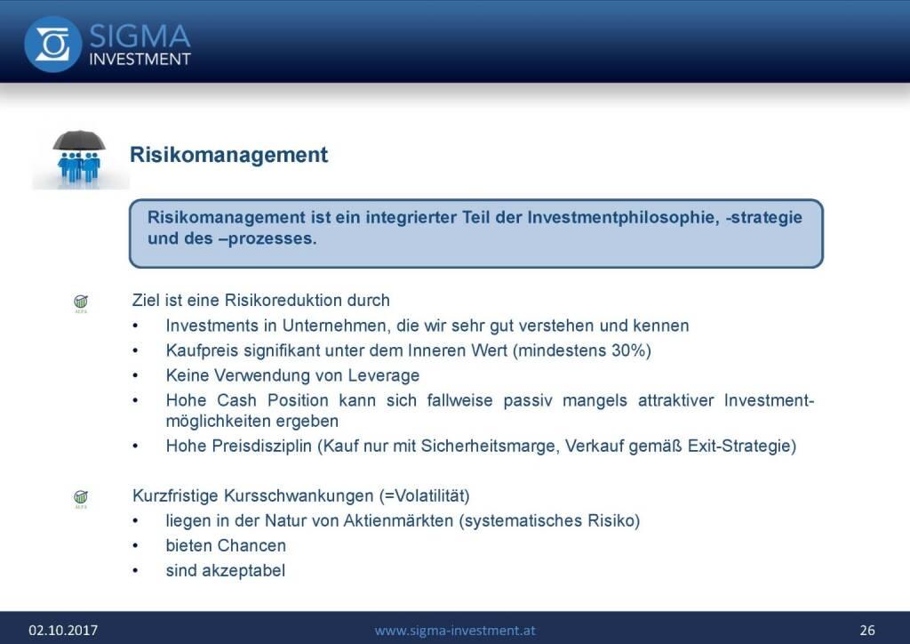 Präsentation Sigma Alfa European Opportunities Fonds - Risikomanagement (07.11.2017)