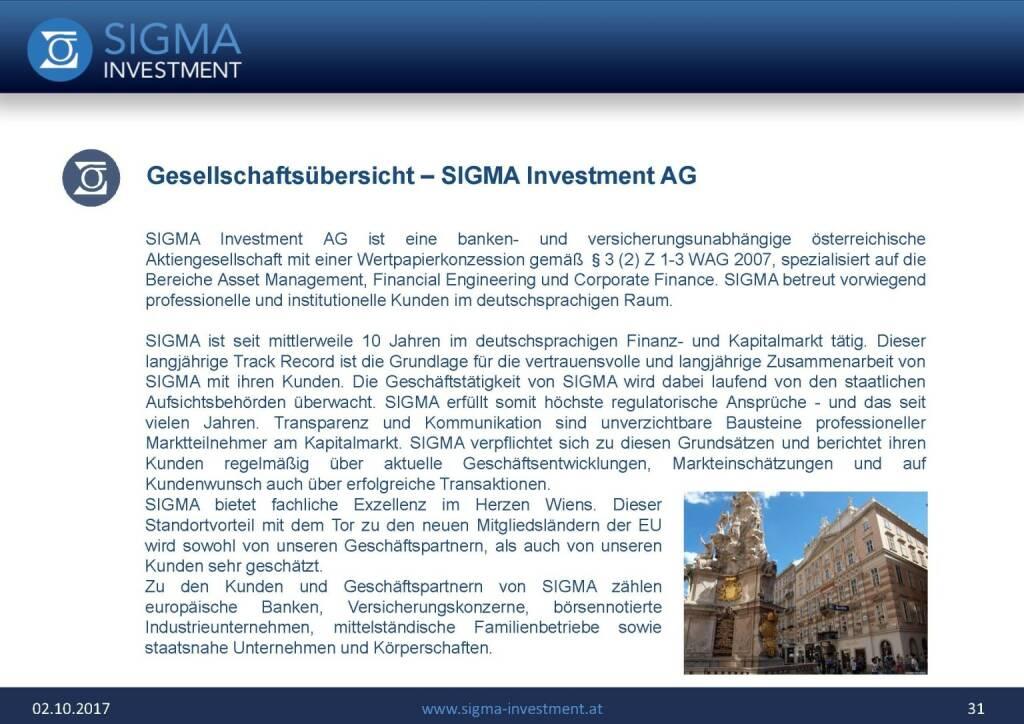 Präsentation Sigma Alfa European Opportunities Fonds - Gesellschaftsübersicht (07.11.2017)