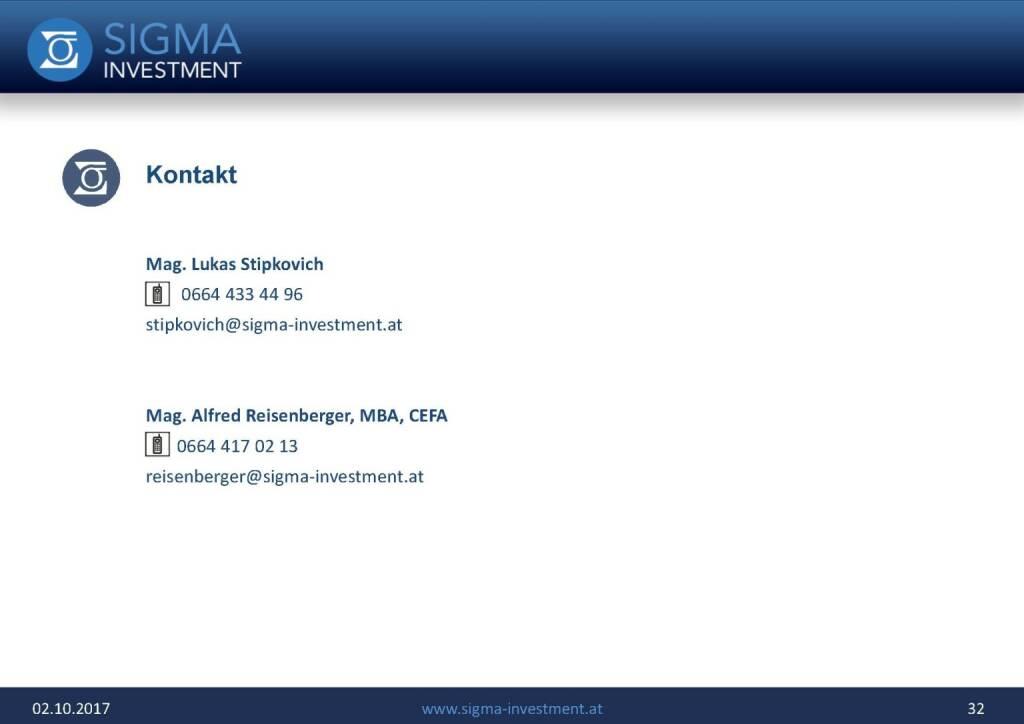 Präsentation Sigma Alfa European Opportunities Fonds - Kontakt (07.11.2017)