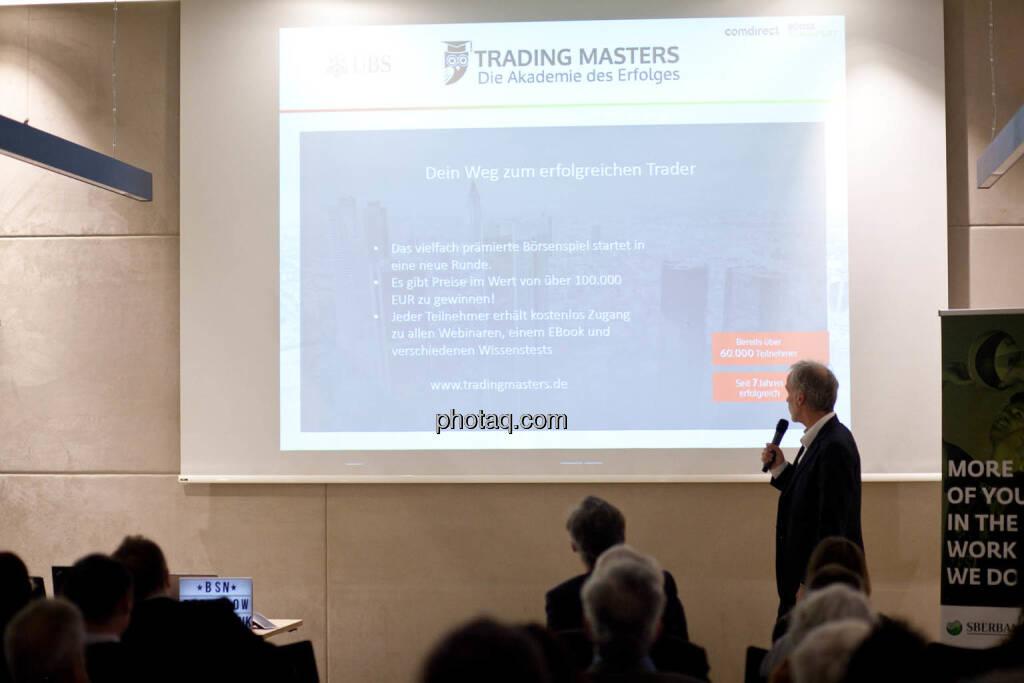 UBS Trading Masters - Christian Drastil (Börse Social Network) - (Fotocredit: Michaela Mejta for photaq.com), © Michaela Mejta (08.11.2017)