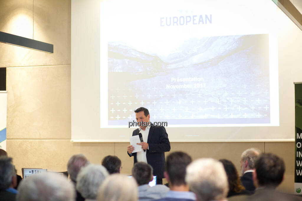 Stefan Müller, Aufsichtsratsmitglied European Lithium (Fotocredit: Michaela Mejta for photaq.com), © Michaela Mejta (08.11.2017)
