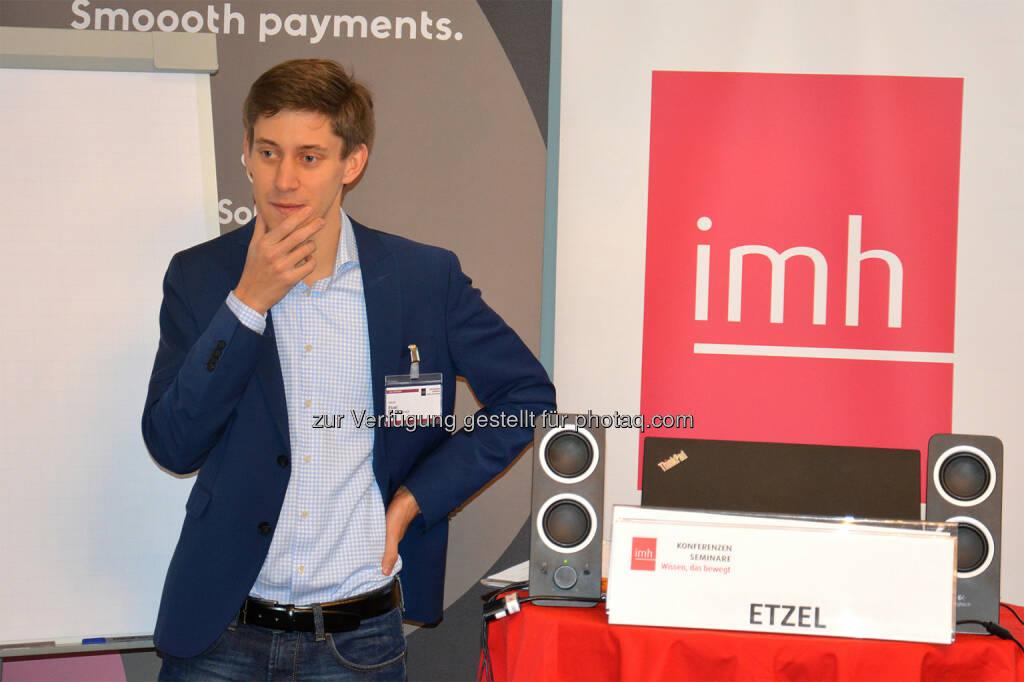Jakob Etzel von der Mantigma GmbH über das Potential von Machine-Learning - imh Gmbh: Kredit vom Roboter oder doch vom sympathischen Bankberater? (Fotocredit: imh GmbH), © Aussender (10.11.2017)