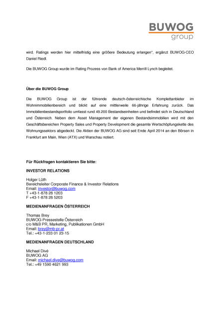 Buwog Group erhält Investment Grade Rating von S&P, Seite 2/2, komplettes Dokument unter http://boerse-social.com/static/uploads/file_2387_buwog_group_erhalt_investment_grade_rating_von_sp.pdf (10.11.2017)