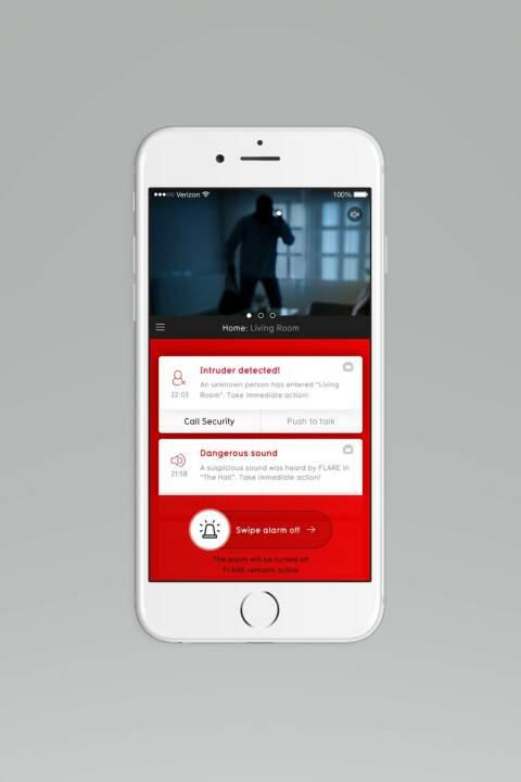 Die BuddyGuard App zeigt eine Warnmeldung: 5 Tipps für mehr Heimsicherheit in der dunklen Jahreszeit; Fotocredit: BuddyGuard