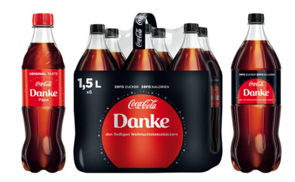 Mit Coca-Cola können sich alle bei ihren Liebsten – ob Mama, Papa, dem Schatz, dem Weihnachtsengerl oder den großartigen Geschenkeverpackern – bedanken, damit Freude bereiten und gleichzeitig gewinnen! Dies steht im Mittelpunkt der diesjährigen Coca-Cola Weihnachtskampagne. Der TV-Spot ist ab 13. November on air. Auf die Konsumenten warten ein kulinarisches Gewinnspiel sowie ein Adventkalender mit tollen Preisen. Credit: Coca-Cola, © Aussendung (13.11.2017)