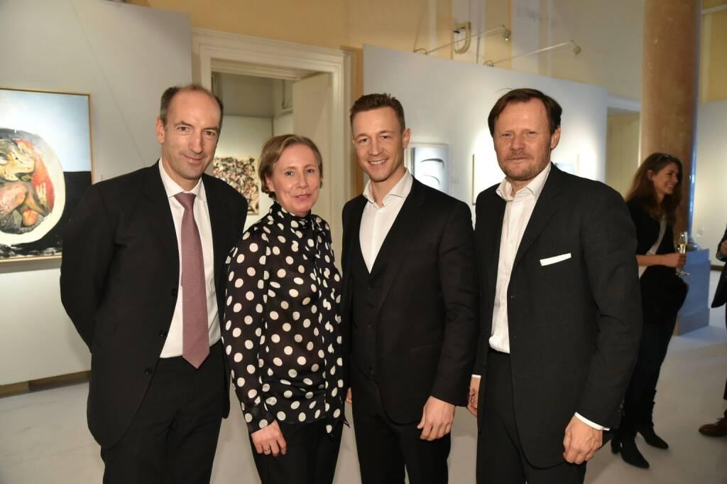 Krone-Chef Christoph Dichand, mumok-Direktorin Karola Kraus, ÖVP-Mediensprecher Gernot Blümel, Dorotheum-Geschäftsführer Martin Böhm, © leisure.at/Christian Jobst (14.11.2017)