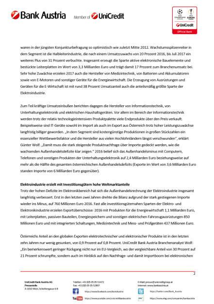 Österreichs Elektroindustrie wächst 2017 weiter kräftig, Seite 2/3, komplettes Dokument unter http://boerse-social.com/static/uploads/file_2391_osterreichs_elektroindustrie_wachst_2017_weiter_kraftig.pdf (14.11.2017)