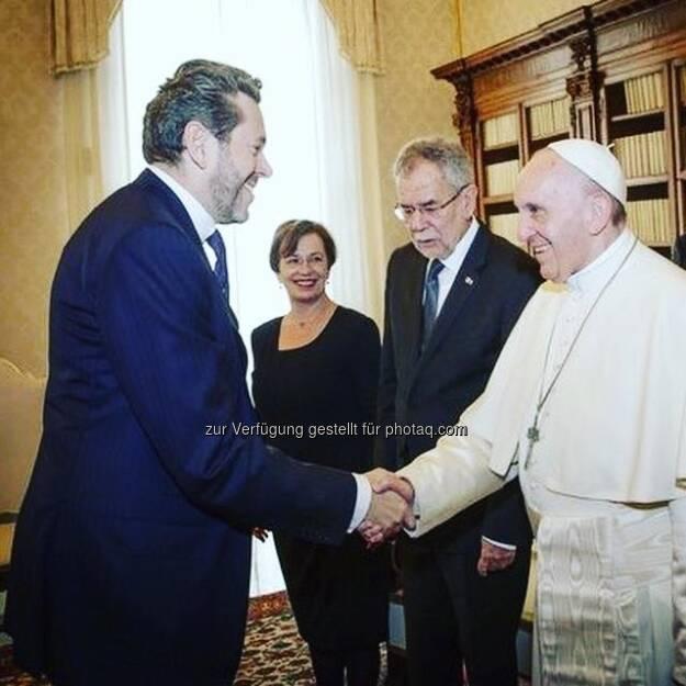 Harald Mahrer, Alexander van der Bellen, Papst Franziskus (18.11.2017)