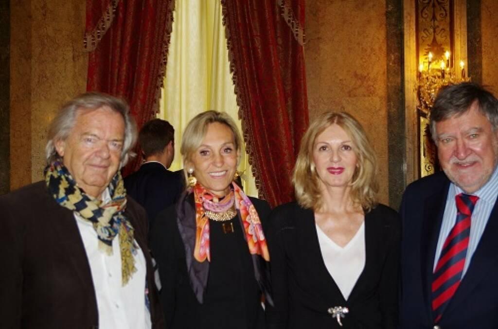 Albert Hochleitner, Ex-CEO von Siemens; Isabella de Krassny, Donau Invest; Sabine Duchaczek, Advantage Strategy; Herbert Stepic, Stepic Global; Bild: Family Office Day (20.11.2017)