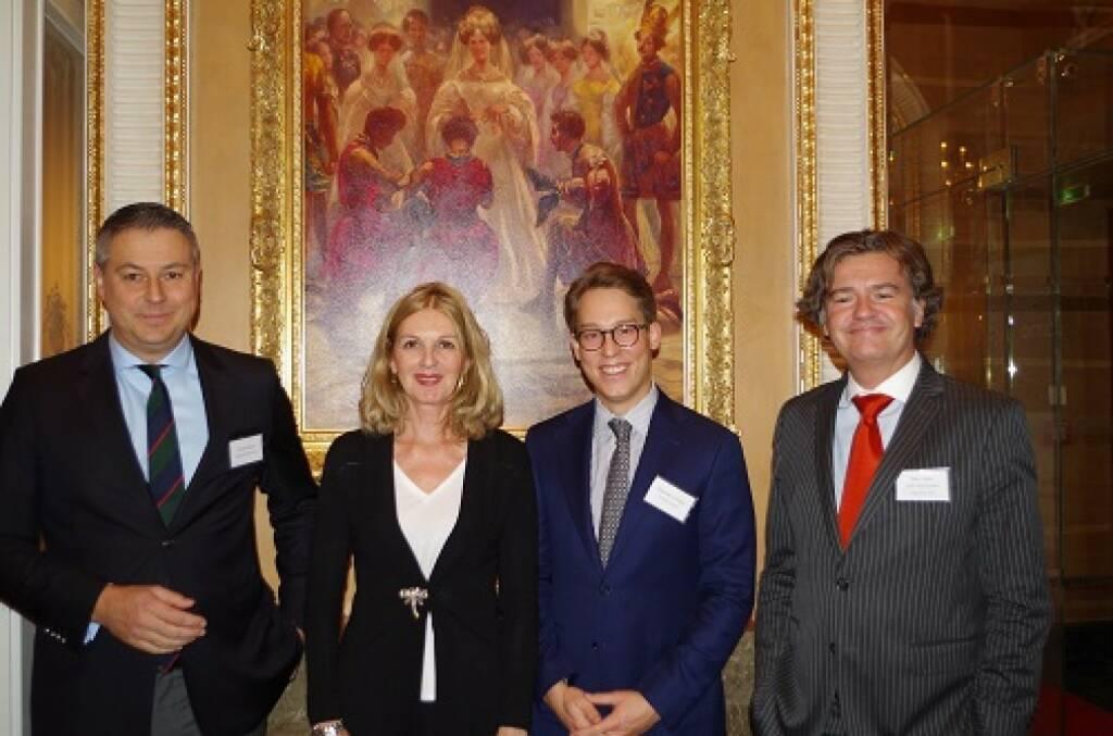Oliver Schumy, IMMOFINANZ AG; Sabine Duchaczek, Advantage Strategy; Alexander Schröter, Donau Invest; Peter Haller, 6B47,  Bild: Family Office Day (20.11.2017)