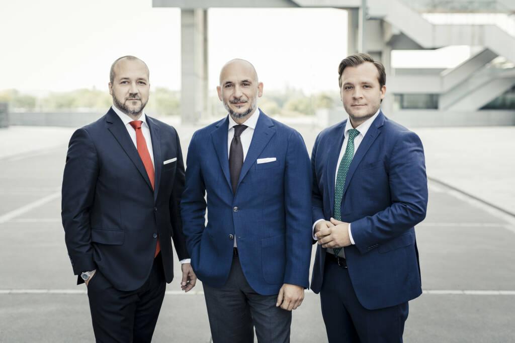 Palmers Textil AG- Geschäftsführung: Tino Wieser, Marc Wieser, Luca Wieser (v.l.n.r.), Credit: Palmers, © Aussender (21.11.2017)